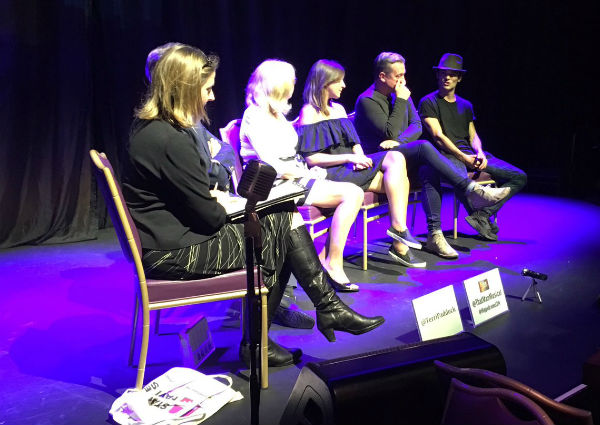 Terri hosts That Man post-show Q&A with: director Paul Boyd, writer Wendy Gill & cast members Sabrina Aloueche, Christopher Howell and Jonny Labey