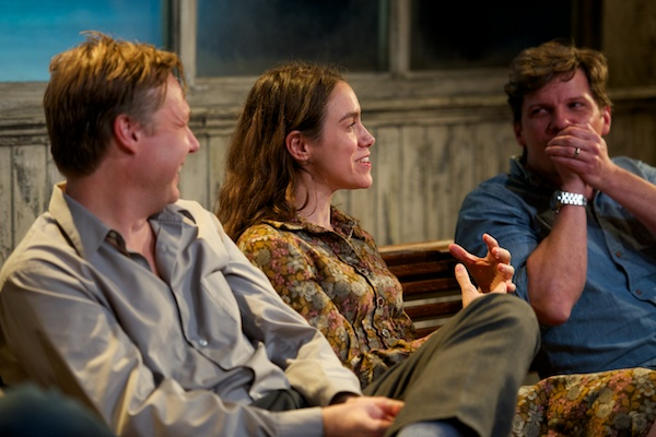 Berkoff double bill stars Shaun Dooley and Emily Bruni with director Nigel Harman at post-show Q&A