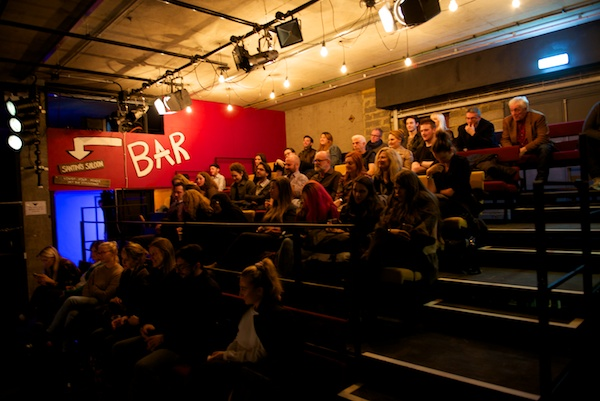 An appreciative audience at the Tonight with Donny Stixx post-show Q&A at the Bunker Theatre