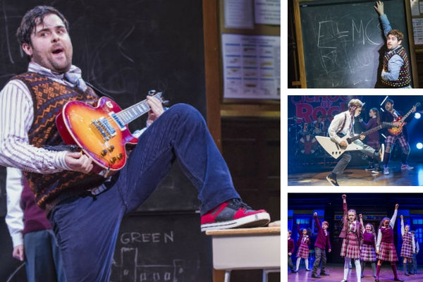 David Fynn and the West End cast of School of Rock. © Tristram Kenton