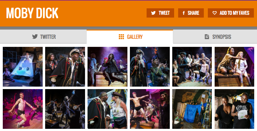 Get all show pics & all social media for Moby Dick & its cast on www.stagefaves.com
