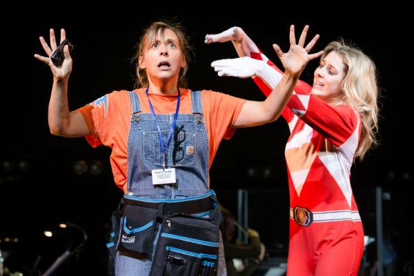 Mel Giedroyc and Danielle Bowen sing Ready to Launch from Matt Board and Reina Hardy's FANATICAL, set at a sci-fi convention. New Songs 4 New Shows at the Lyric Theatre, 28 November 2016. © Scott Rylander