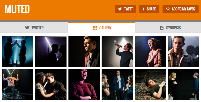Get all social media (& show pics) for MUTED & its cast on www.stagefaves.com