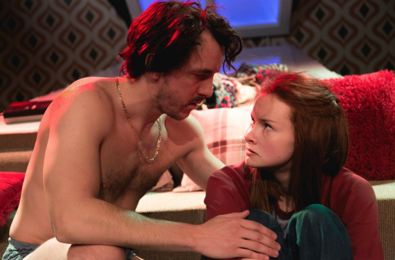 Jamie Wilkes and Nina Morrison in Diary of a Teenaged Girl at Southwark Playhouse. © Darren Bell