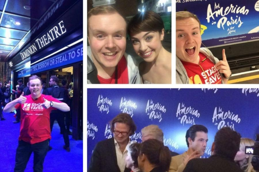 Vlogger Perry O'Bree's Twitter takeover on An American in Paris' opening night