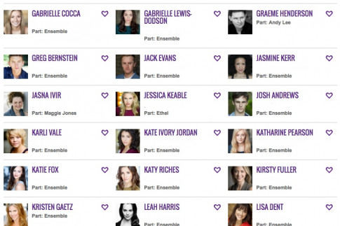 Complete cast Twitter directory and all social