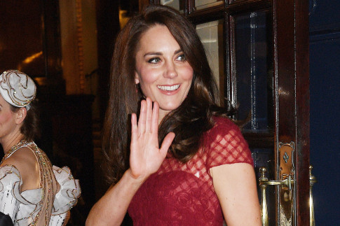 Duchess Kate is a vision in red at a London fundraiser