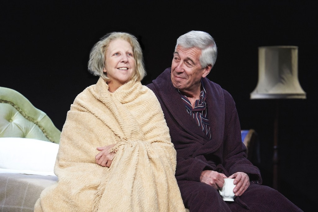 Nichola McAuliffe and Jeffrey Holland in Waiting for God. © Geraint Lewis