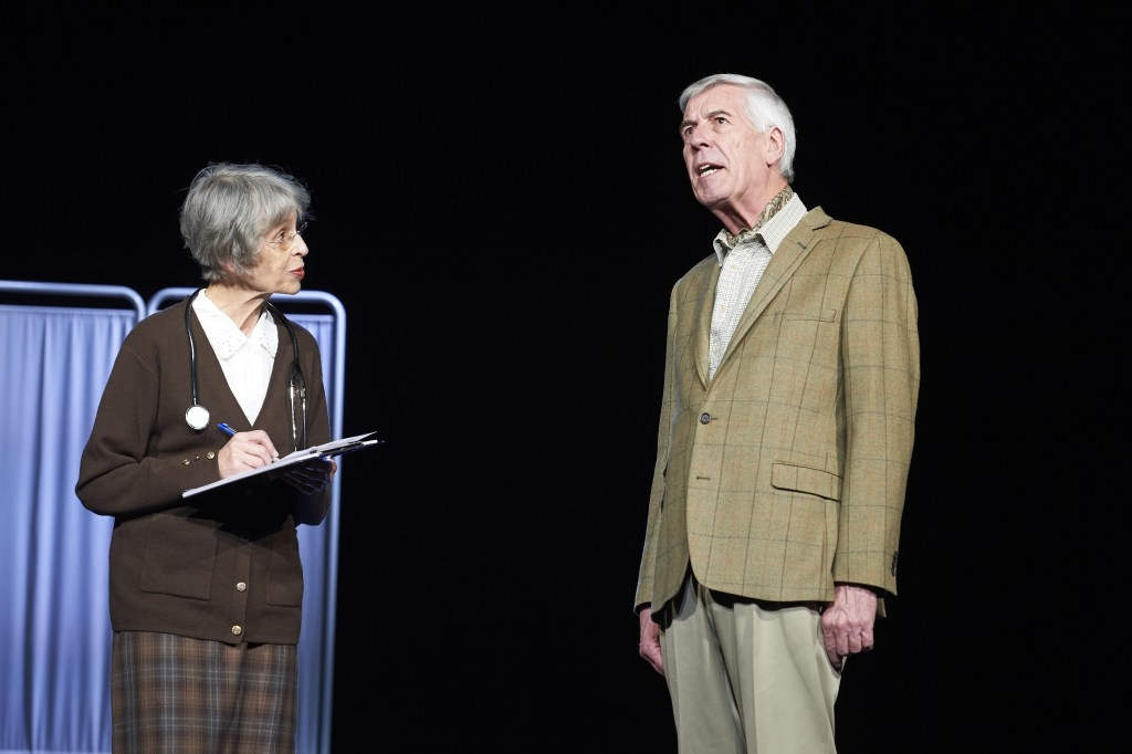 Jeffrey Holland with Corinna Marlowe in Waiting for God. © Geraint Lewis
