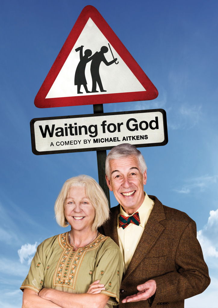 Nichola McAuliffe and Jeffrey Holland star in Waiting for God onstage