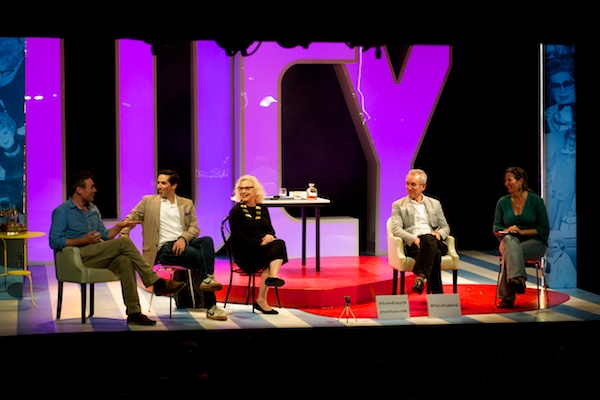 Director Anthony Biggs, stars Sandra Dickinson & Matthew Scott & author Lee Tannen with me at the I Loved Lucy Q&A