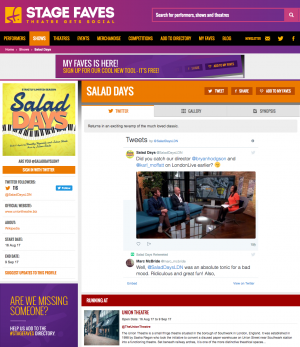 Get all social media for Salad Days & its cast on www.stagefaves.com