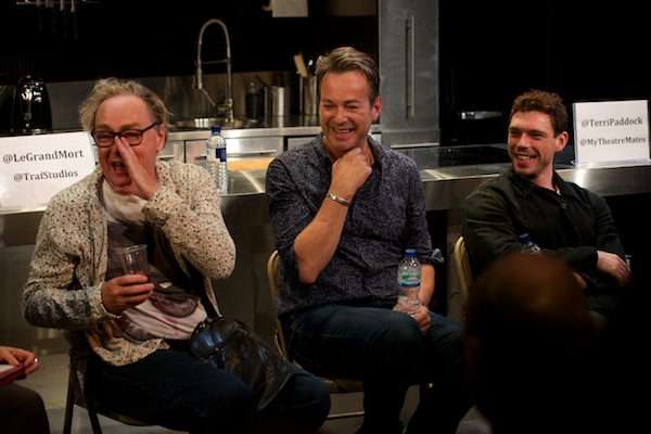 Christopher Renshaw, Julian Clary and James Nelson-Joyce at Le Grand Mort Q&A