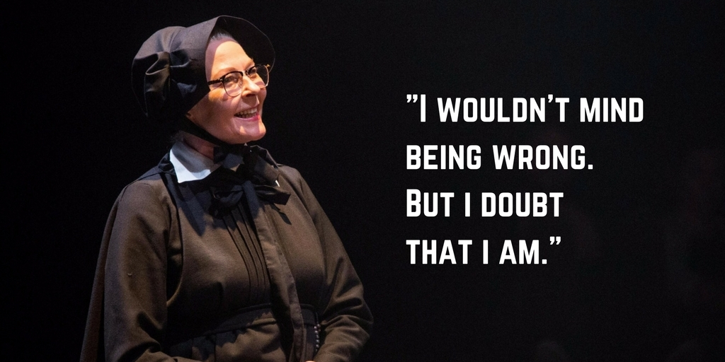 Stella Gonet in Doubt at London's Southwark Playhouse