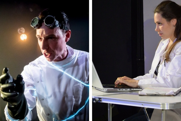Christopher Tester in Frankenstein and Natasha Killam in The Test