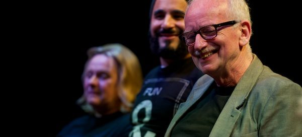 Joanne Pearce, Ameet Chana & Ian McDiarmid at What Shadows Q&A at London's Park Theatre