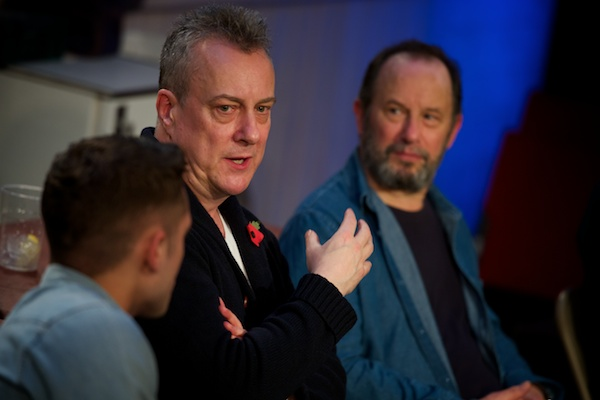 Dean Bone, Stephen Tompkinson & John Bowler at The Red Lion post-show Q&A on 9 November 2017. All Q&A photos © Peter Jones