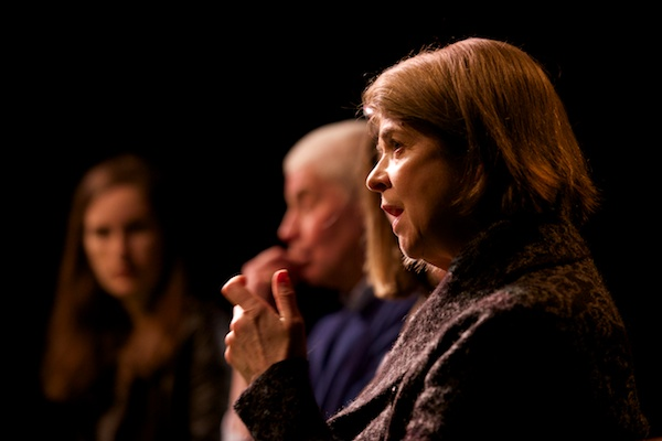 Leading lady Julia Watson, author Ian Grant & director Nadia Papachronopoulou at After the Ball Q&A at Upstairs at the Gatehouse. ©Peter Jones
