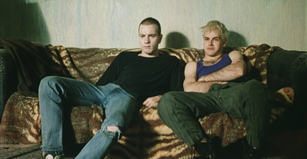 Ewan McGregor & Jonny Lee Miller in the 1996 film of Trainspotting