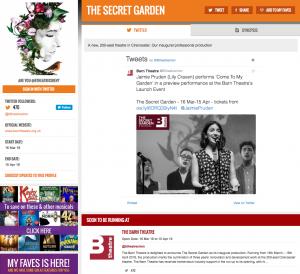 Get all social media for The Secret Garden & its cast on www.stagefaves.com