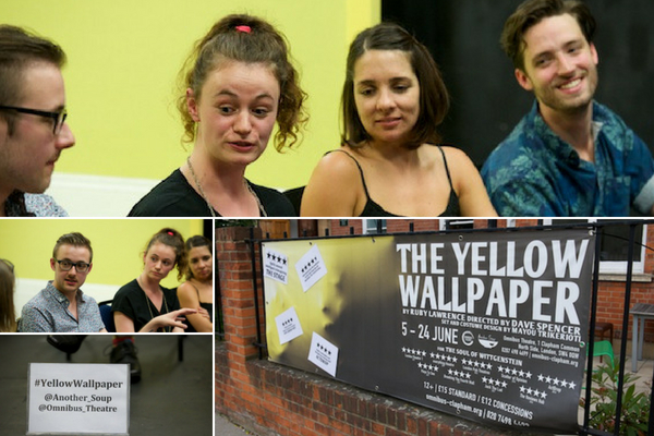 Director Dave Spencer, writer Ruby Lawrence & actors Gemma Yates-Round & Charles Warner at The Yellow Wallpaper post-show Q&A on 13 June 2018. © Peter Jones