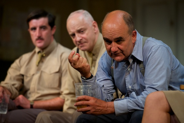 David Haig with Philip Cairns & Malcolm Sinclair at the Pressure post-show Q&A at the Ambassadors Theatre on 2 July 2018. © Peter Jones