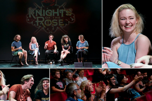 Knights of the Rose post-show Q&A at the Arts Theatre, London, on 26 July 2018. © Peter Jones