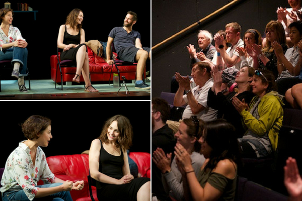 The One post-show Q&A at Soho Theatre with stars Julia Sandiford, Tuppence Middleton & John Hopkins, chaired by Terri Paddock on 28 July 2018. © Peter Jones