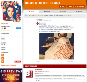 Get all social media for Little Voice & its cast on StageFaves.com
