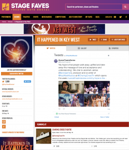 Get social for It Happened in Key & its cast on www.stagefaves.com