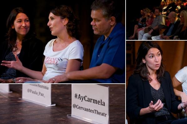 Ay, Carmela! post-show Q&A with director Paula Paz & actors Madalena Alberto & Ivanhoe Norona. © Peter Jones