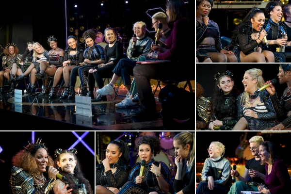 At the Six post-show Q&A at London's Arts Theatre on 11 September 2018, I was joined by six queens, two co-writers & one musical director. © Peter Jones