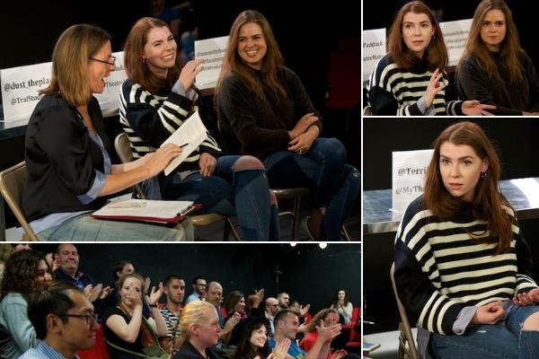 My Dust post-show Q&A with Milly Thomas & director Sara Joyce at Trafalgar Studios on 6 September 2018. © Peter Jones