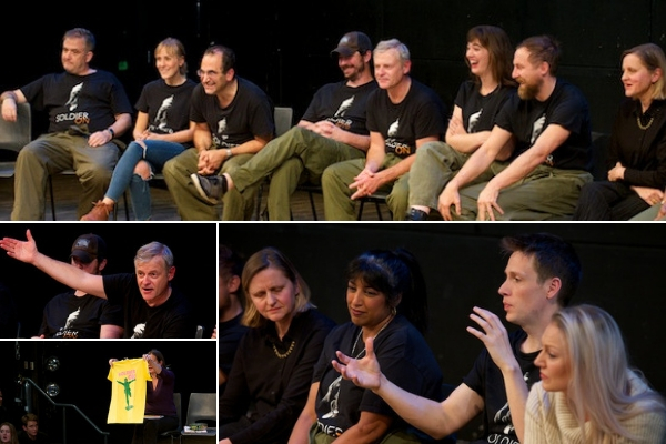 My post-show Q&A with the Soldier On company at The Other Palace on 29 October 2018. © Peter Jones