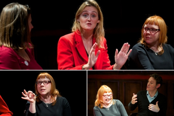 The Sweet Science of Bruising post-show Q&A with writer Joy Wilkinson, director Kirsty Patrick Ward & producer Ashley Cook at Southwark Playhouse on 6 October 2018.