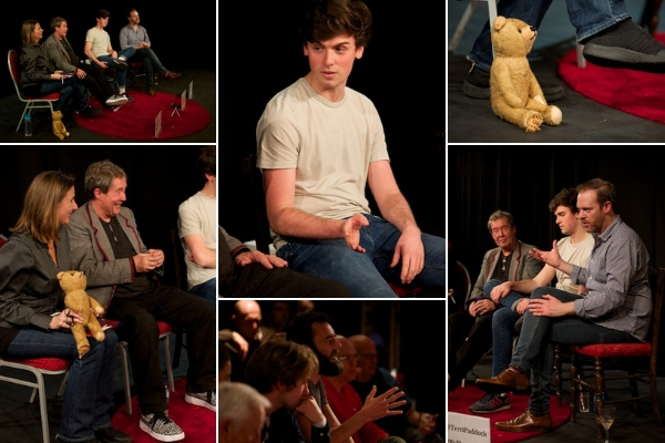 I chaired a Kids Play post-show Q&A with writer/director Glenn Chandler & actors Joseph Clarke & David Mullen at London's Above the Stag Theatre on 3 October 2018. © Peter Jones