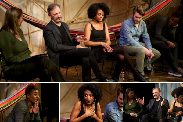 My Yerma post-show Q&A with adatper/director Jorge de Juan & cast Leila Damilola, Tom Whitelock & Coco Mbassi. © Peter Jones
