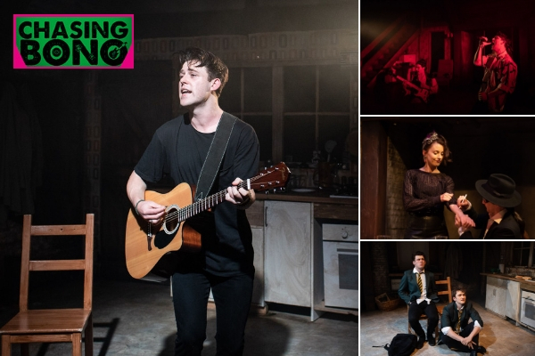 The cast of Chasing Bono at Soho Theatre