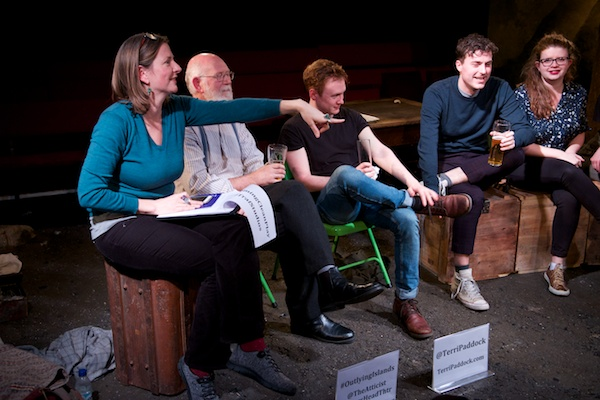 My Outlying Islands post-show Q&A with cast, director & designer. © Peter Jones