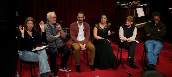 My post-show Q&A at The Orchestra with Jeremy Sams, cast members Toph Enany & Stefania Licari, director Kristine Landon-Smith & composer Felix Cross