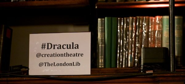Top tweeting from May Cunningham for @MyTheatreMates at my Dracula post-show Q&A at The London Library