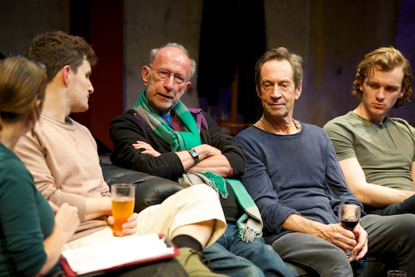 My Gently Down the Stream Q&A with (l-r) Ben Allen, Martin Sherman, Jonathan Hyde & Harry Lawtey. © Peter Jones