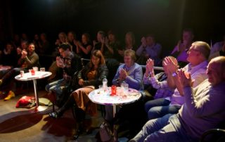 I recommend getting a cabaret table at the front for Call Me Vicky. Also the perfect view for our post-show Q&A. © Peter Jones