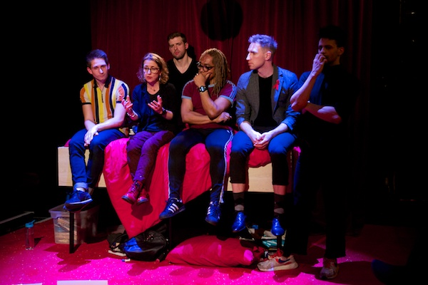 My Undetectable post-show Q&A at the King's Head Theatre. © Peter Jones