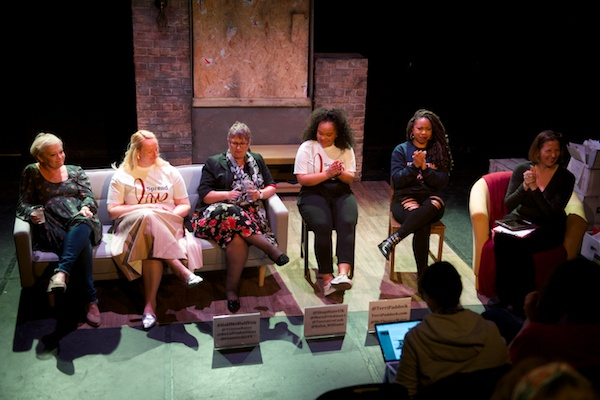 The Half Me, Half You post-show Q&A with (l-r) Maria Friedman, Liane Grant, Stop Hate UK's Rose Simkins, Kalea Williams & Toccarra Cash