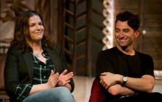 Director Pamela Schermann & Marc Antolin at the Cry Havoc post-show Q&A at London's Park Theatre. © Peter Jones
