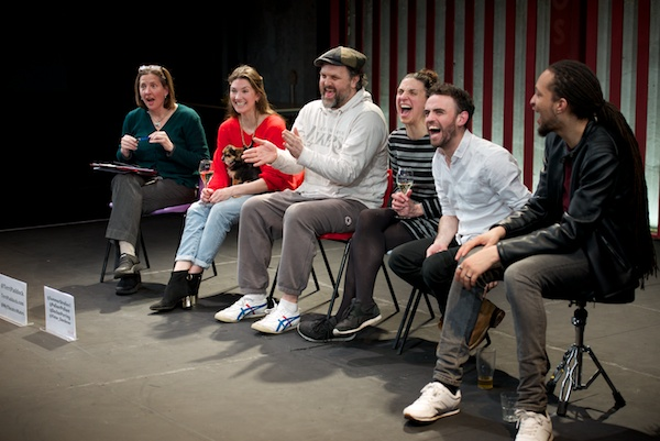 For the Intra Muros Q&A at London's Park Theatre, I was joined by Summer Strallen (with Pebbles), Ché Walker, Emma Pallant, Declan Perring & Rio Kai. © Peter Jones