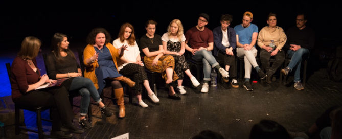 My Amour post-show Q&A with producer, director & cast at London's Charing Cross Theatre. © Peter Jones