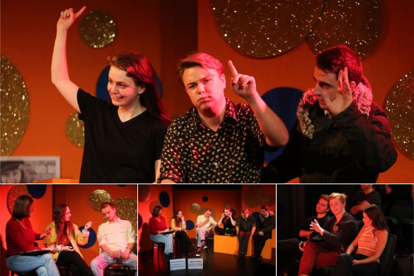 Bebe Barry & the Exploding Whale company at the Heroes post-show Q&A at Drayton Arms Theatre. © Anthony Kelly