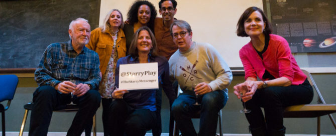 Matthew Broderick, Elizabeth McGovern & fellow cast members (back l-r) Jim Norton, Sinead Matthews, Rosalind Eleazar & Sid Sagar joined me for The Starry Messenger post-show Q&A. © Peter Jones